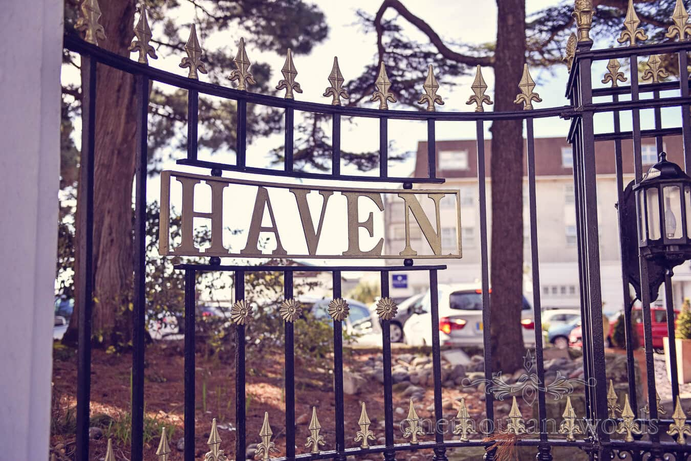 Hotel gate at the Haven