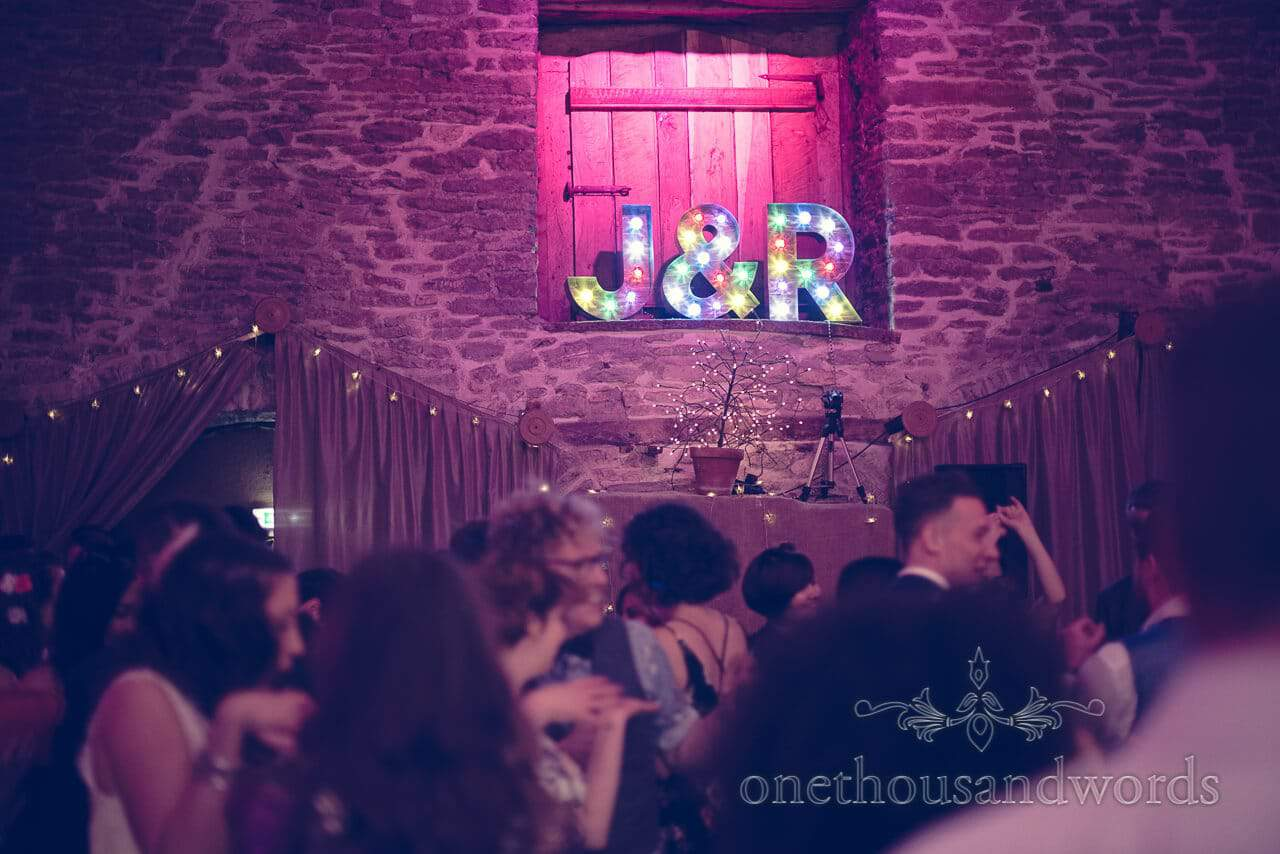 Letter signage from Barn Wedding