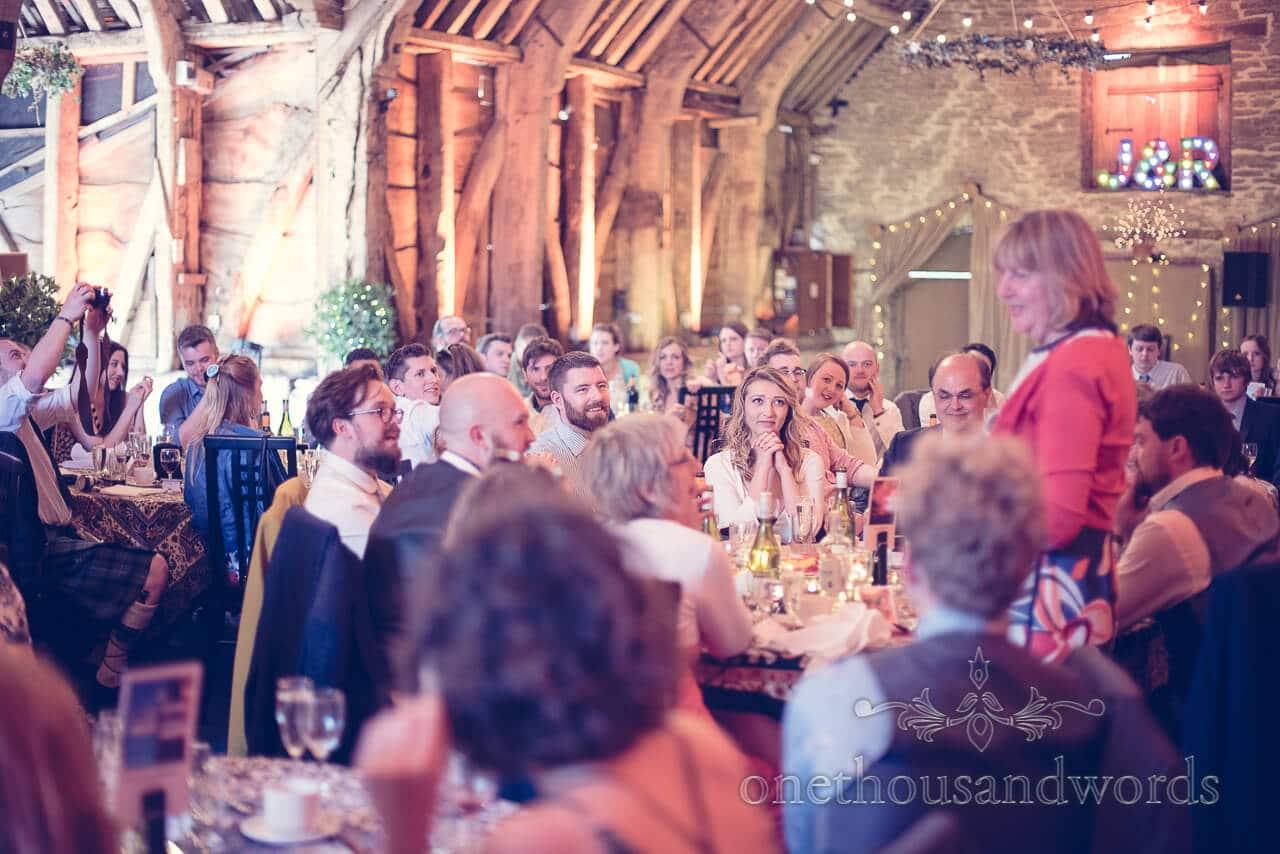 Mother of the groom speech at Barn Wedding