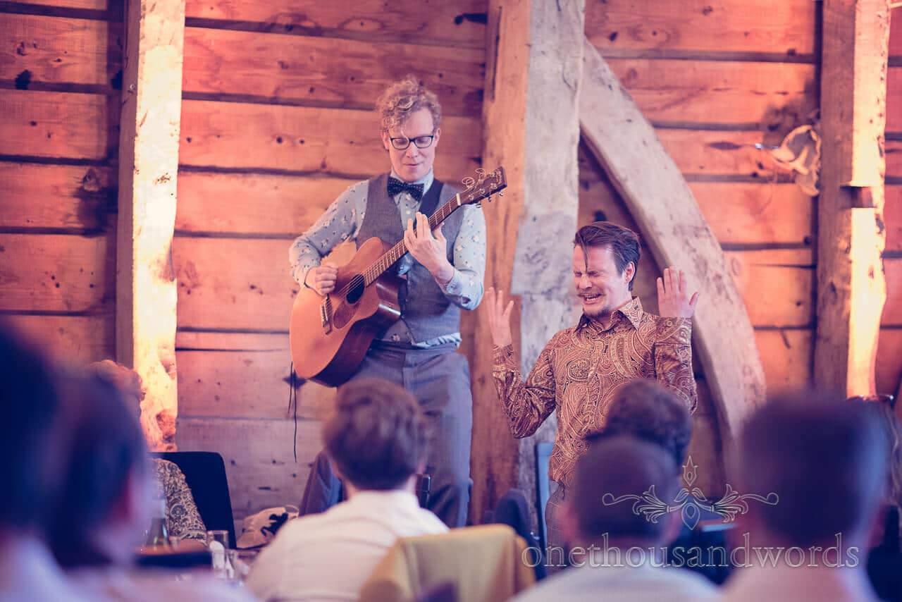 Performance at Barn Wedding