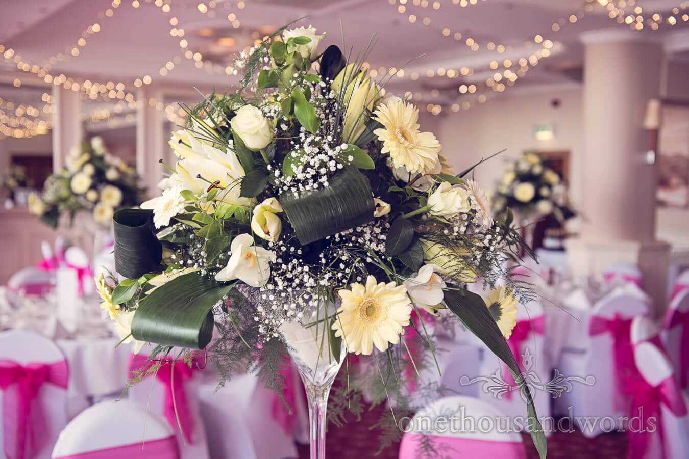 Yellow wedding flowers from Yellow and Pink wedding