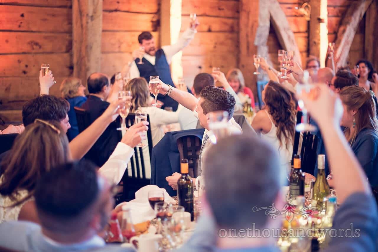 Toast at Barn Wedding