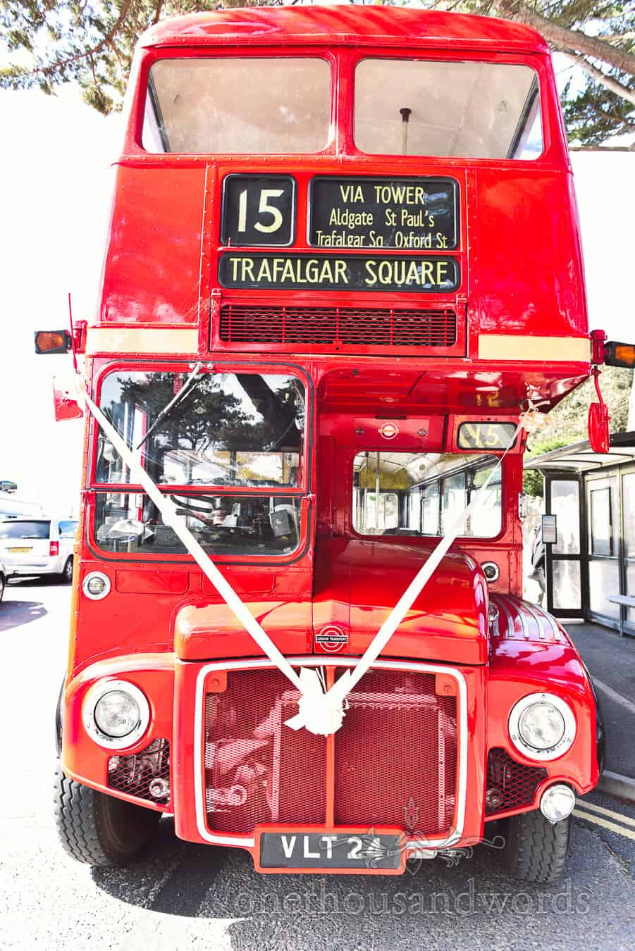 Wedding London bus