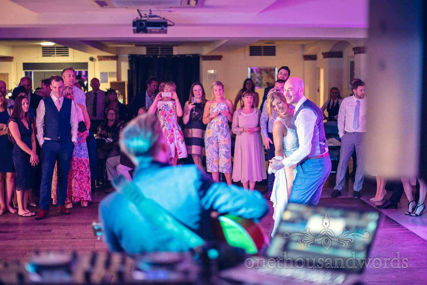 Acoustic performance first dance at Italian Villa Wedding Photographs