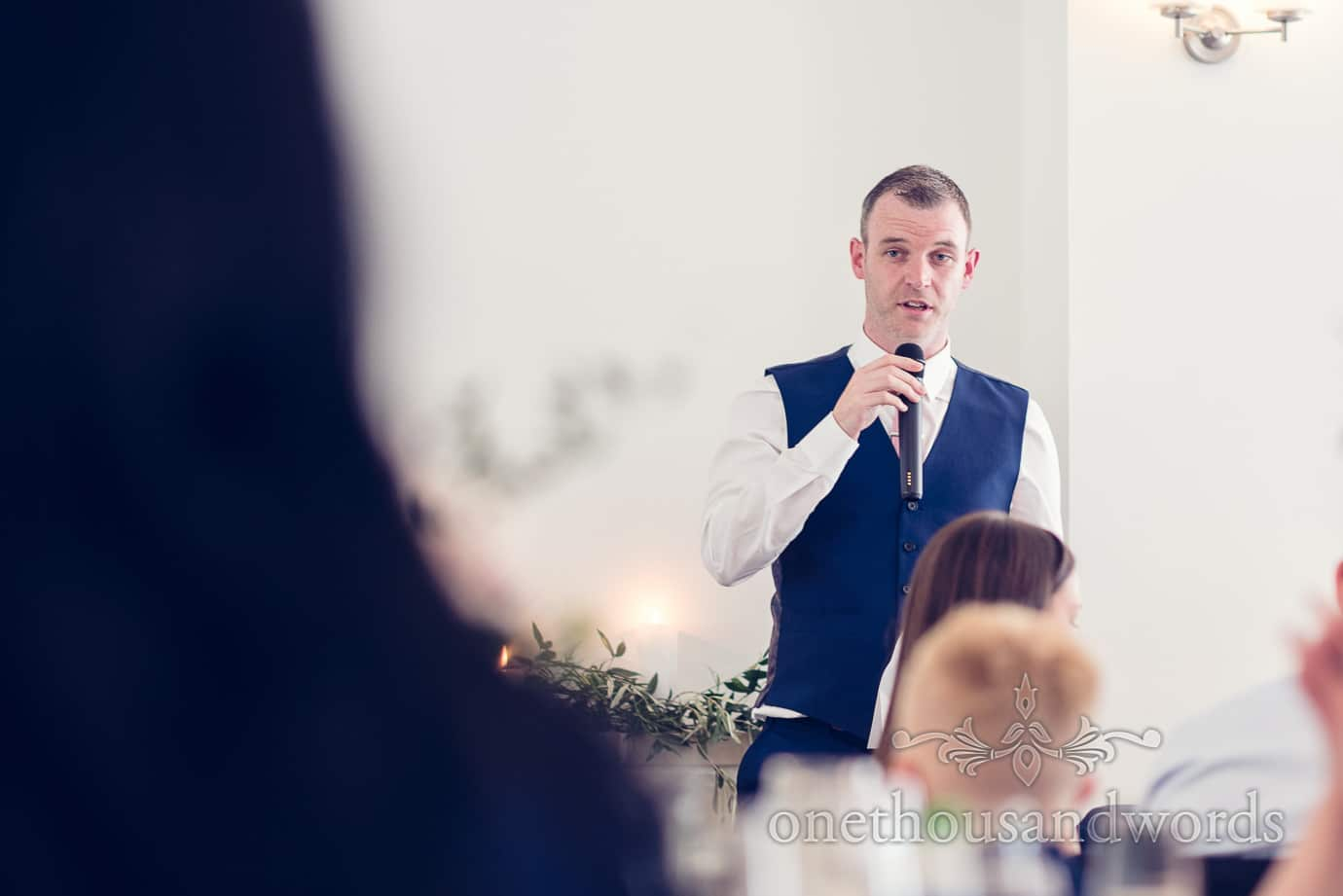 Best man speech at Italian Villa Wedding Photographs