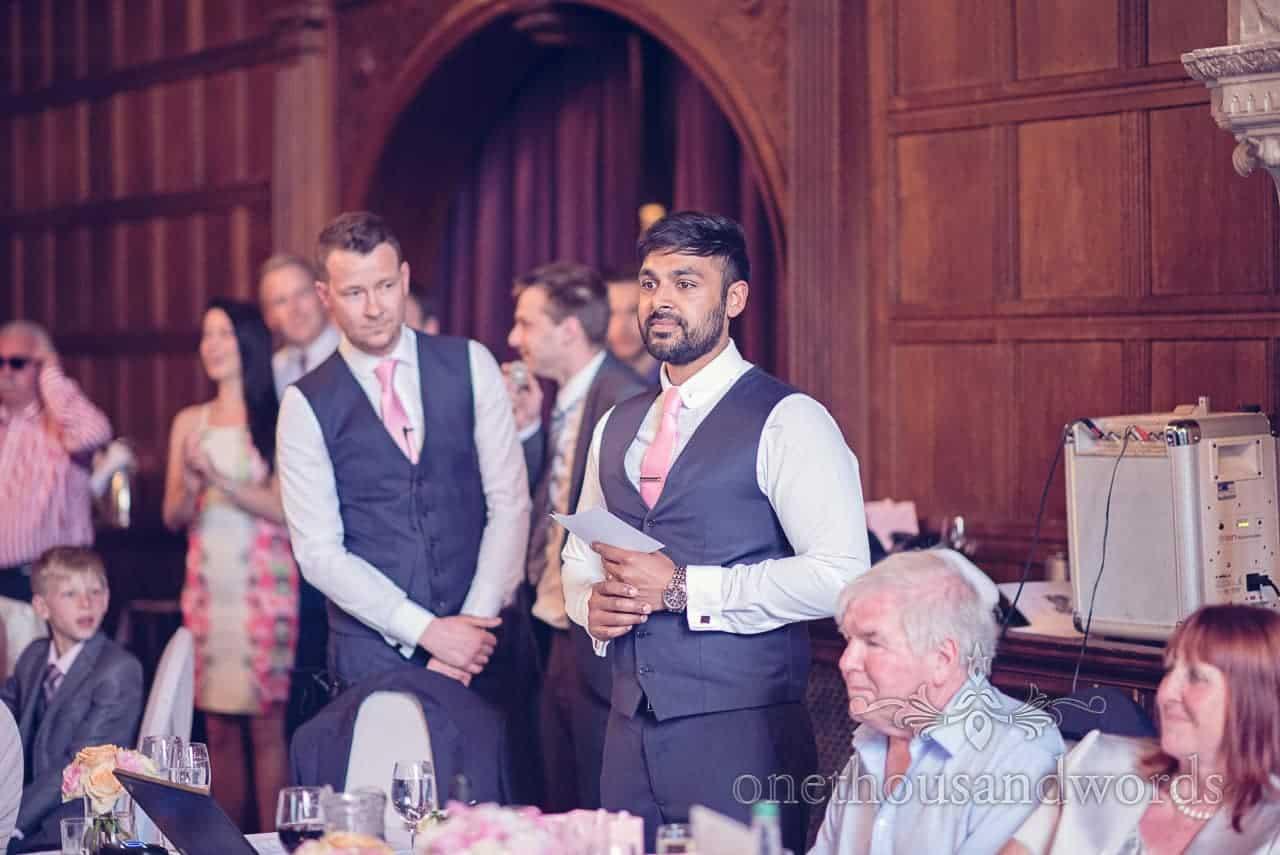 Best Man's Speech at Rhienfield House Wedding Photographs
