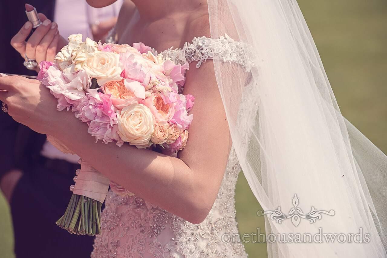 Brides bouquet at Rhinefield House Wedding