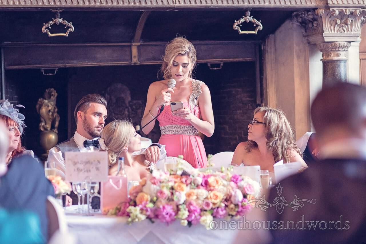 Chief Bridesmaids Speech at Rhinefield House Wedding