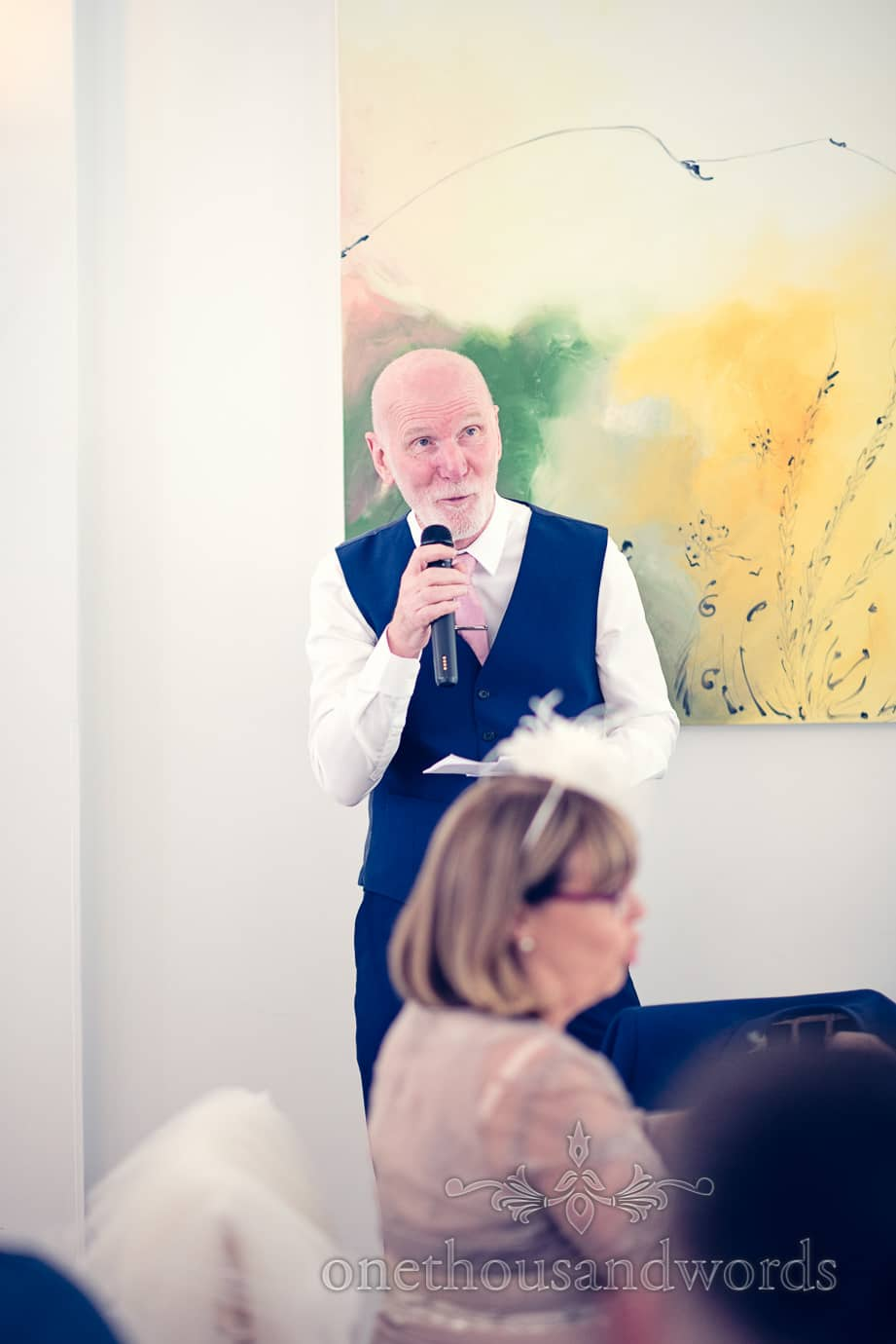 Father of the bride speech at Italian Villa Wedding Photographs