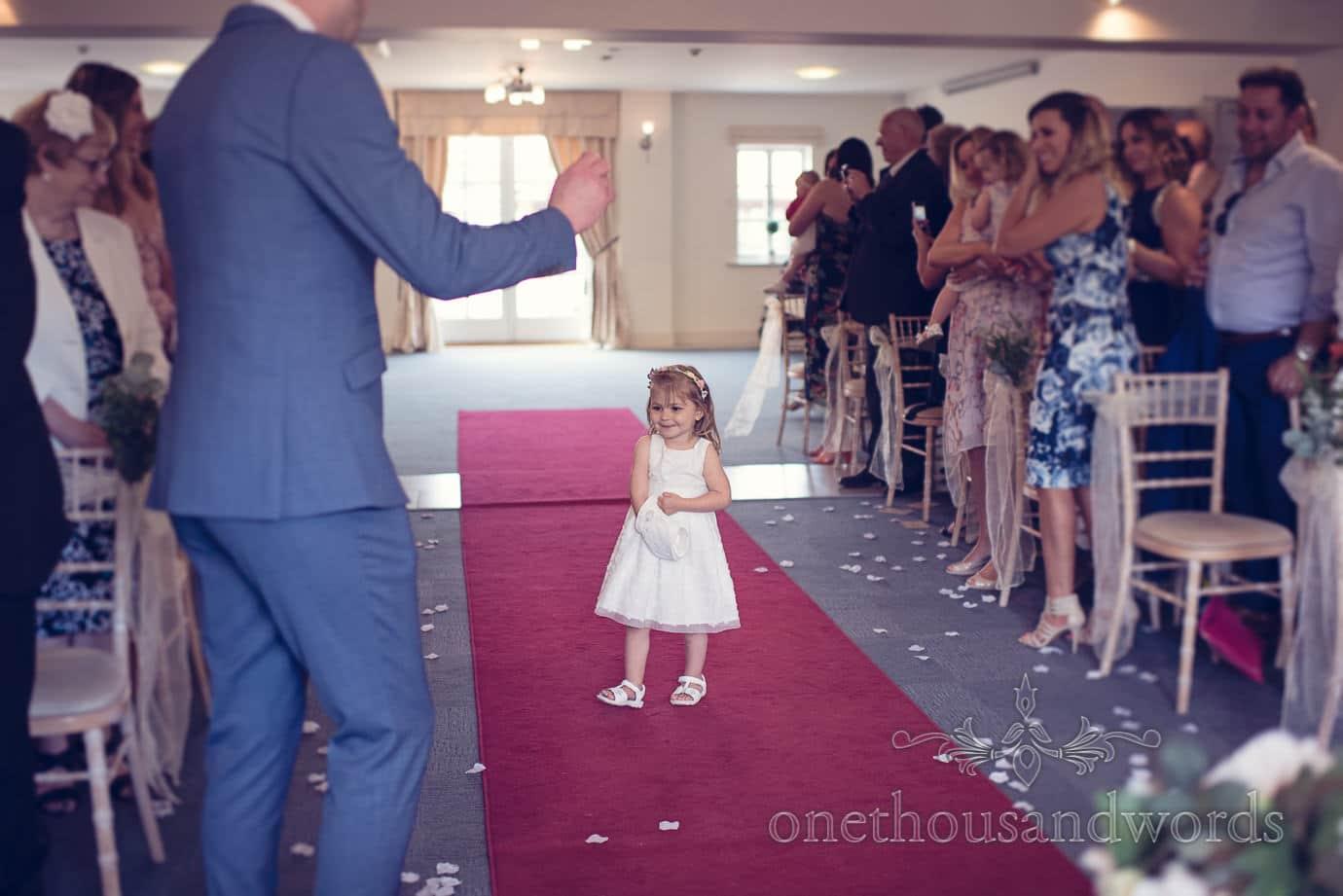 Flower girl at Italian Villa Wedding Photographs