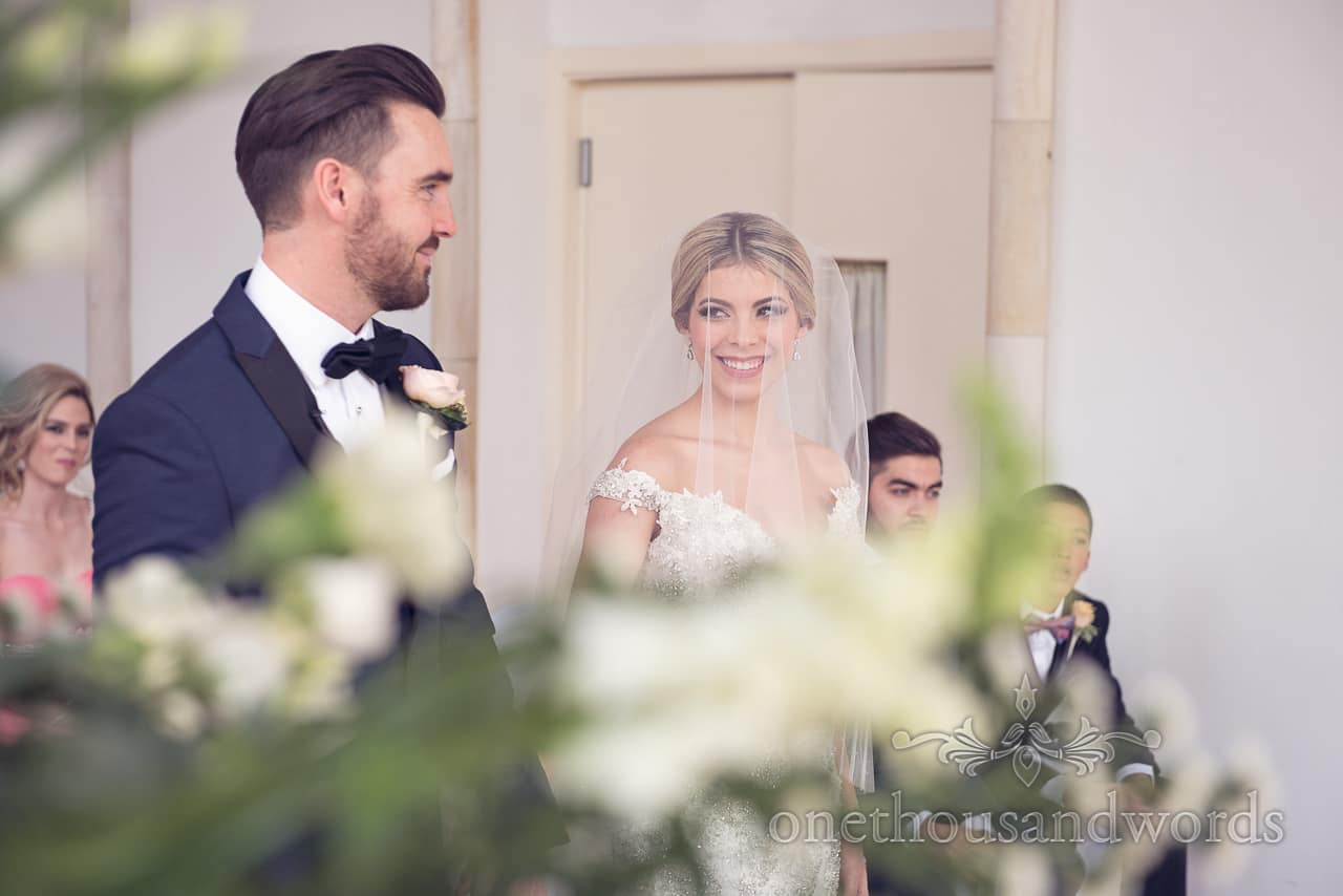 Glance at Highcliffe castle wedding
