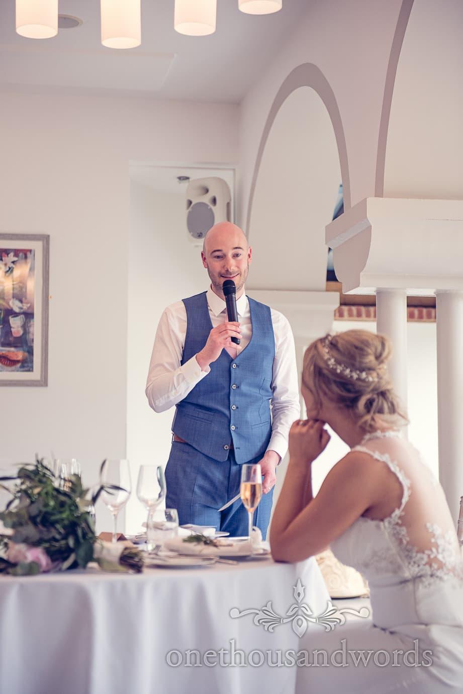 Grooms speech at Italian Villa Wedding Photographs
