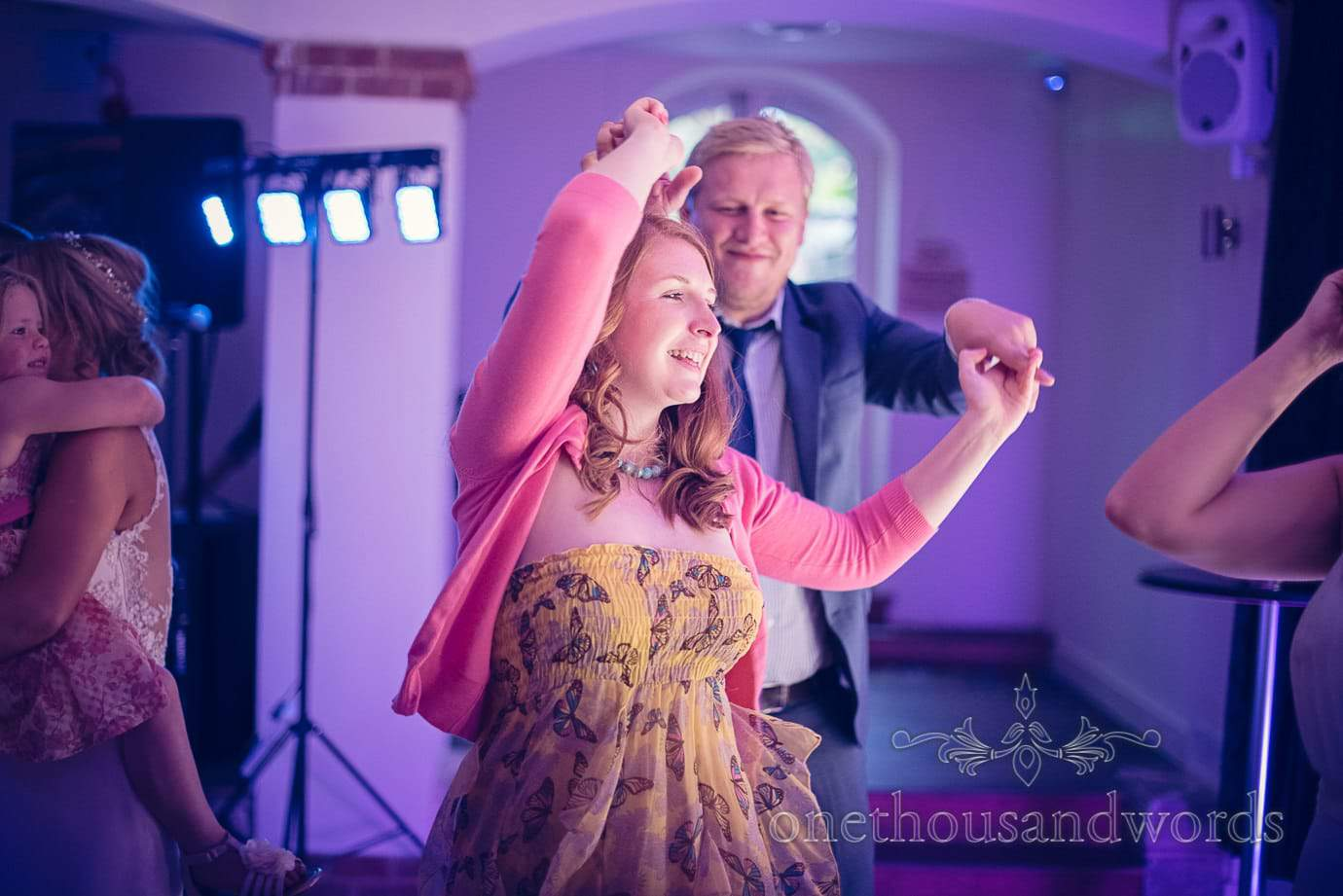 Guests dance from Italian Villa Wedding Photographs