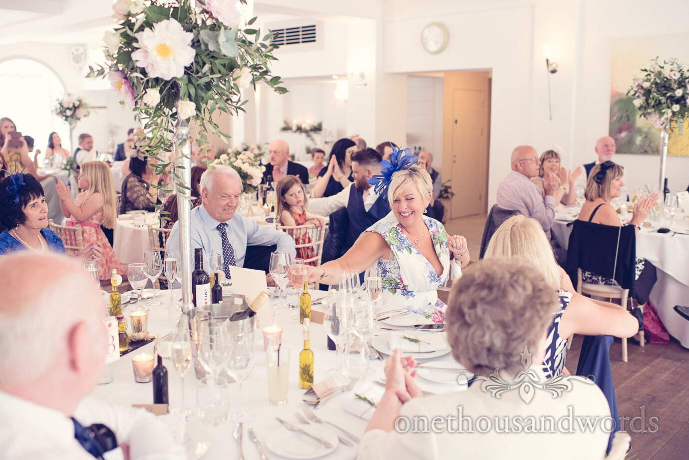 Guests during speeches at Italian Villa Wedding Photographs