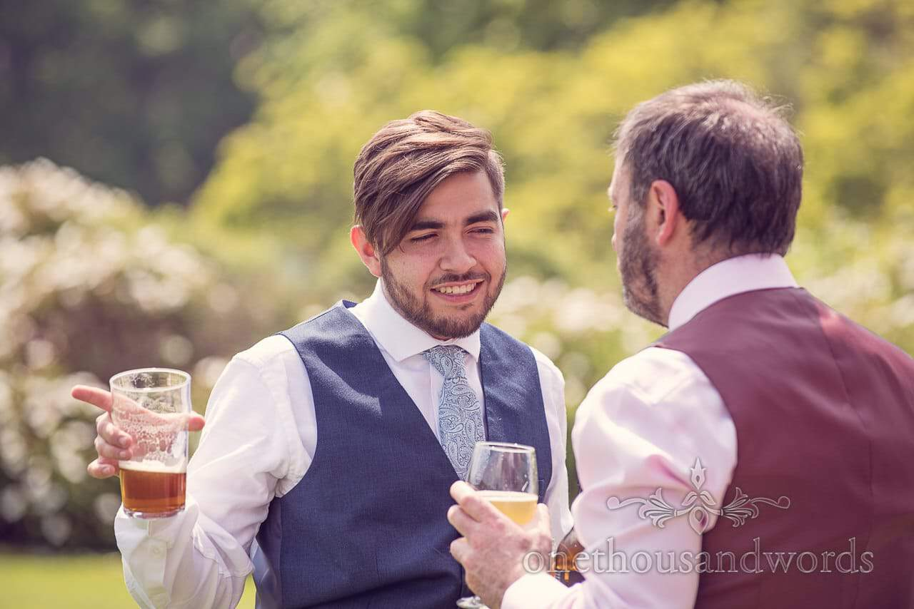 Guests relax at Rhinefield House Wedding
