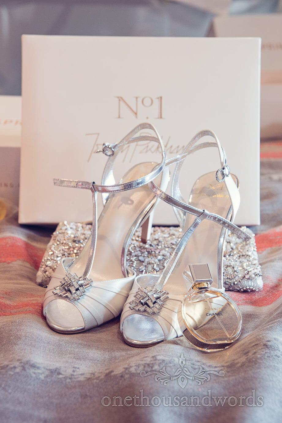 Jenny Packham Wedding shoes with Chanel Perfume