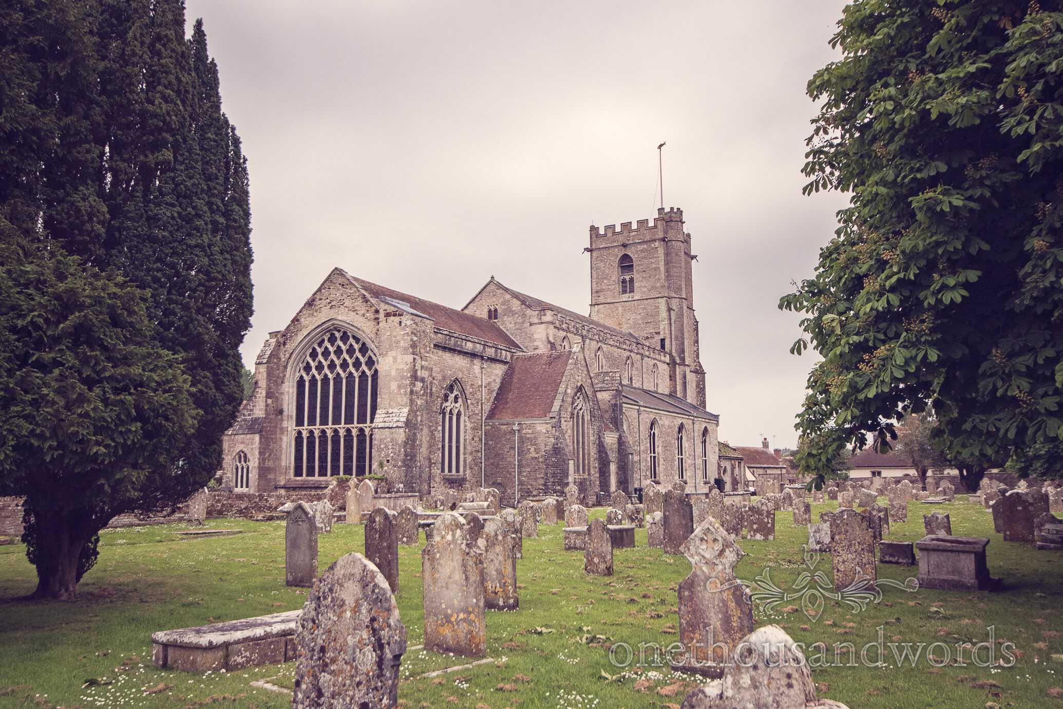 Lady St. Mary Church, Wareham, Dorset on wedding morning