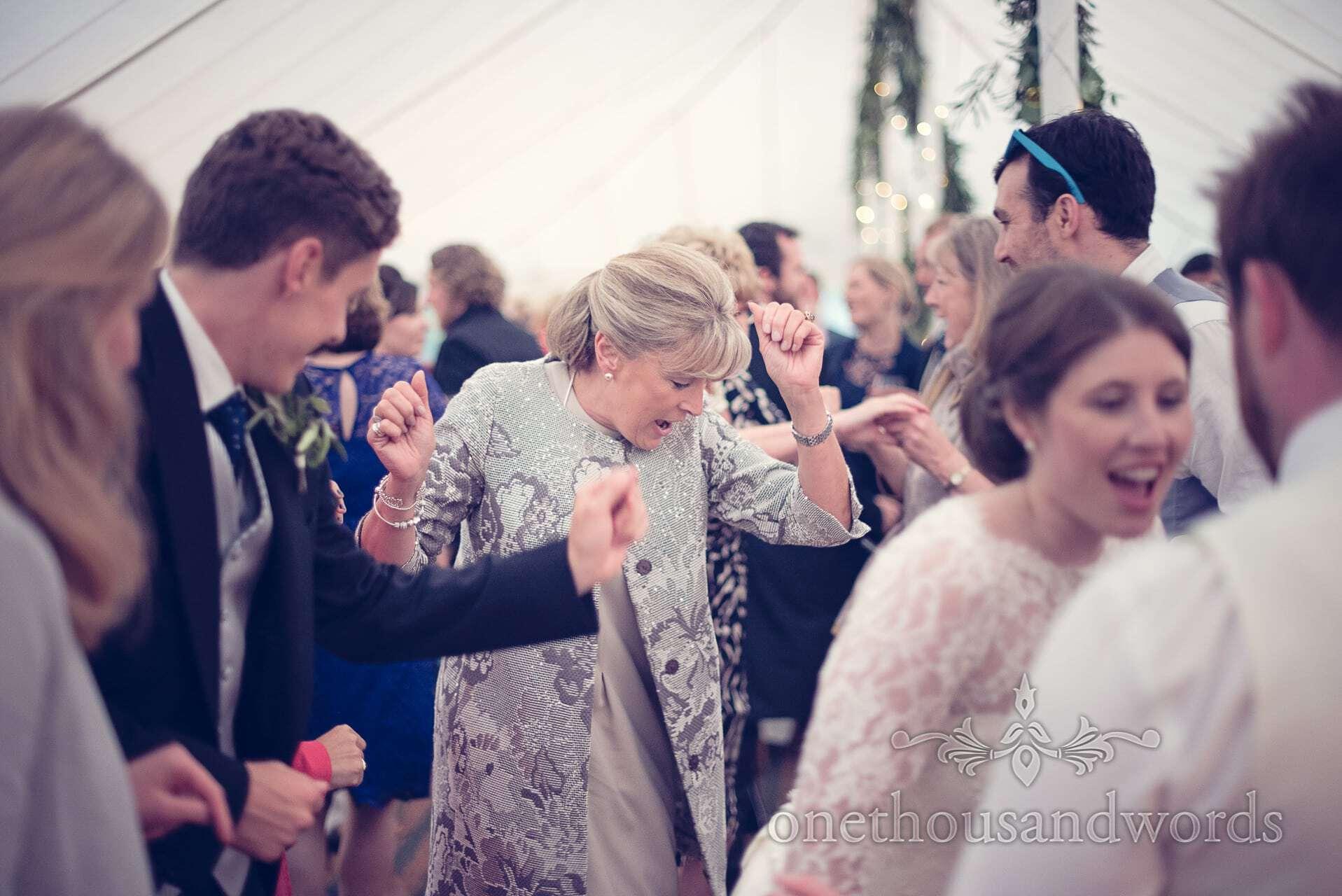 Mother of Bride dances at The Priory Wareham wedding