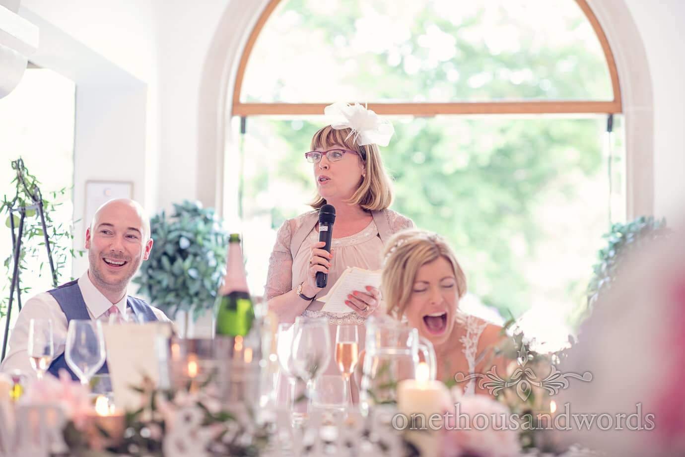 Mother of the bride speech at Italian Villa Wedding Photographs