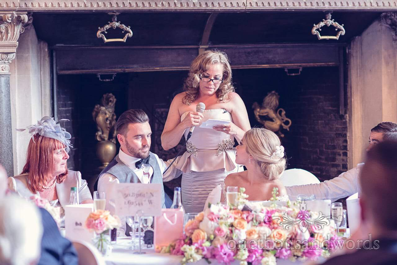 Mother of the Bride Speech at Rhinefield House Wedding