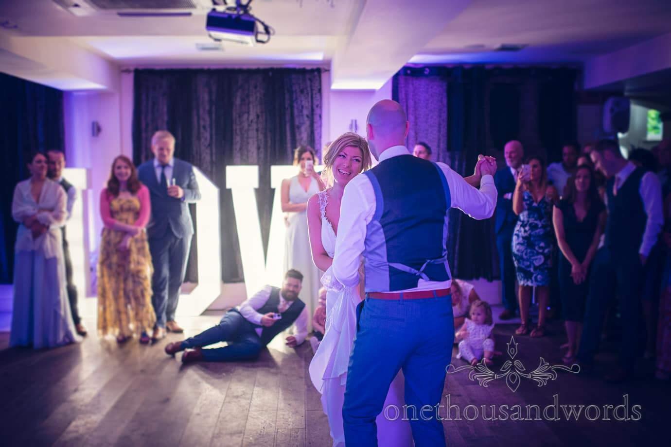 Newlyweds first dance at Italian Villa Wedding Photographs