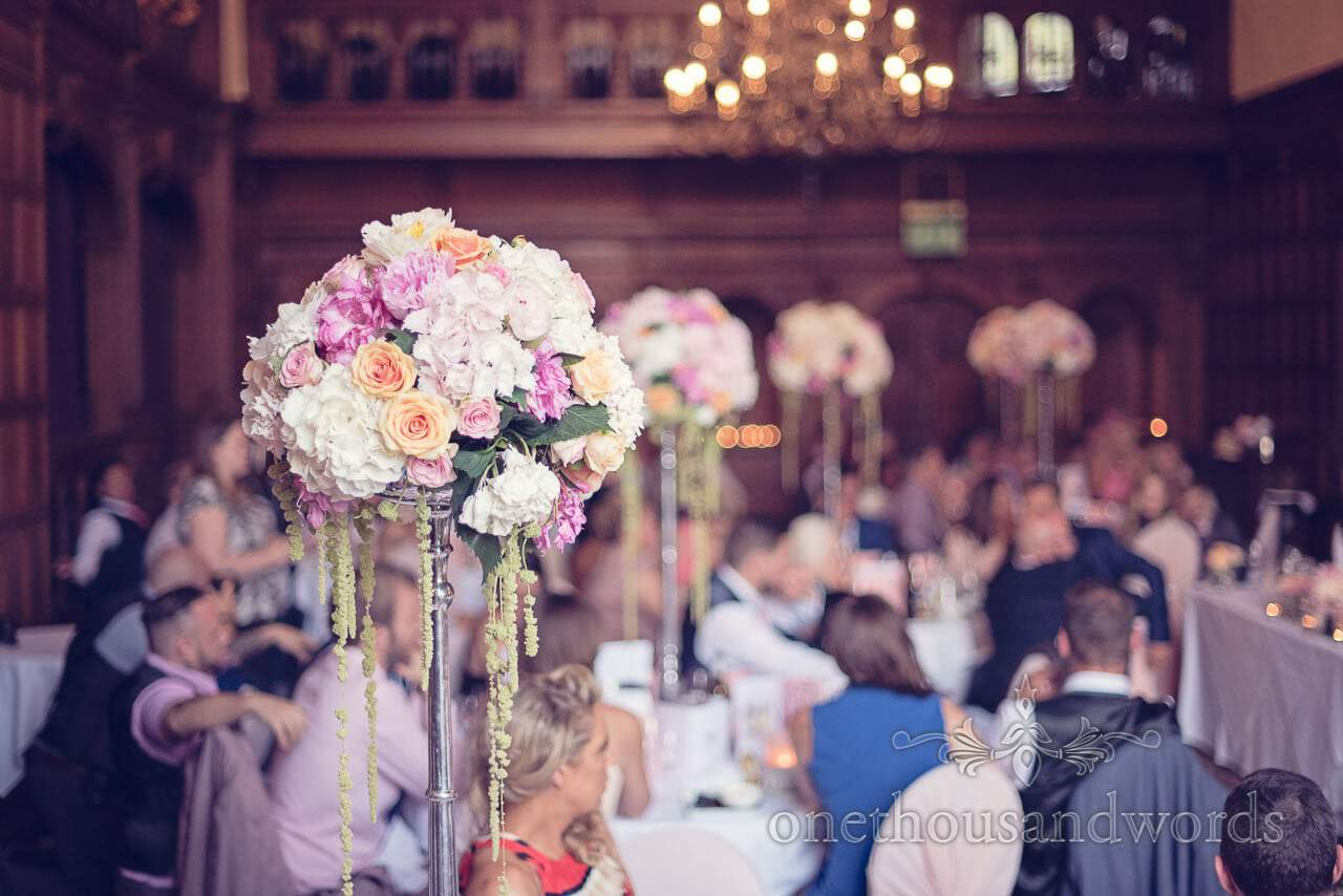 Pastel wedding flowers at Rhinefield House Wedding photographs