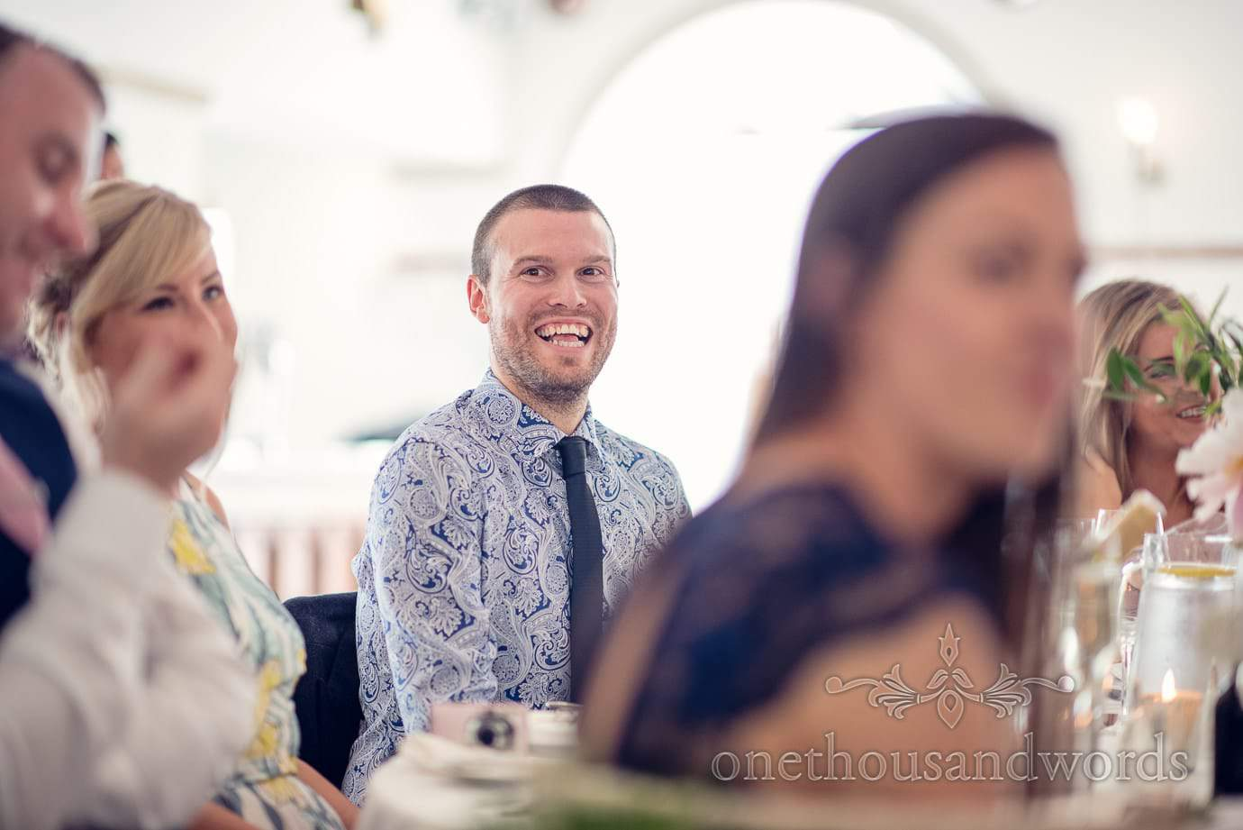 Reaction of guest at Italian Villa Wedding Photographs
