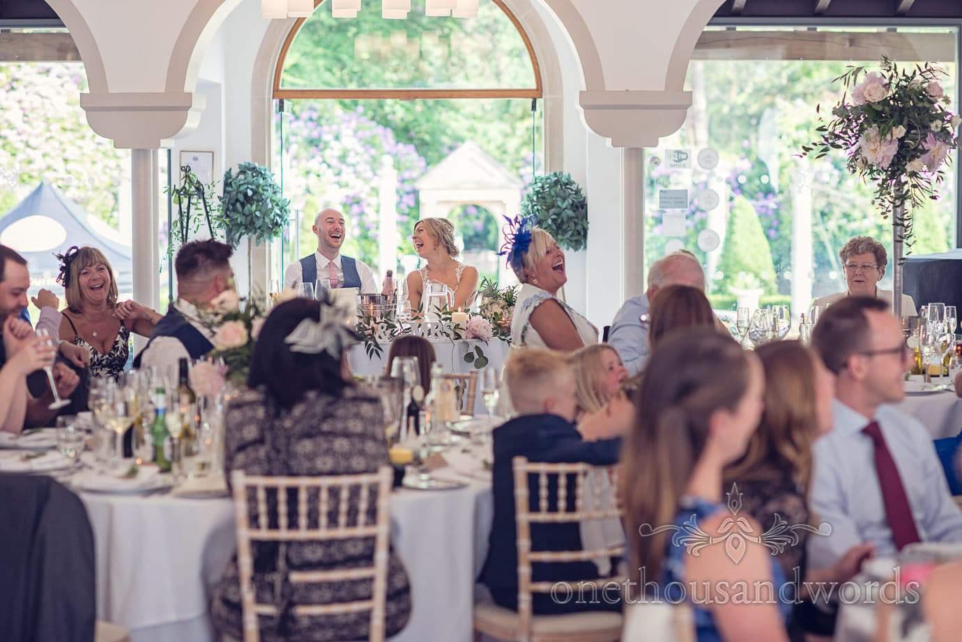 Speech reaction at Italian Villa Wedding Photographs