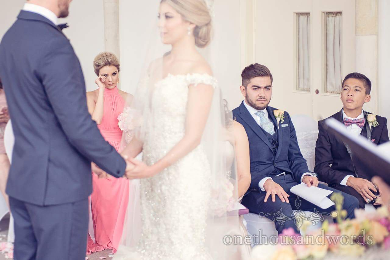 Tears at Highcliffe Castle wedding