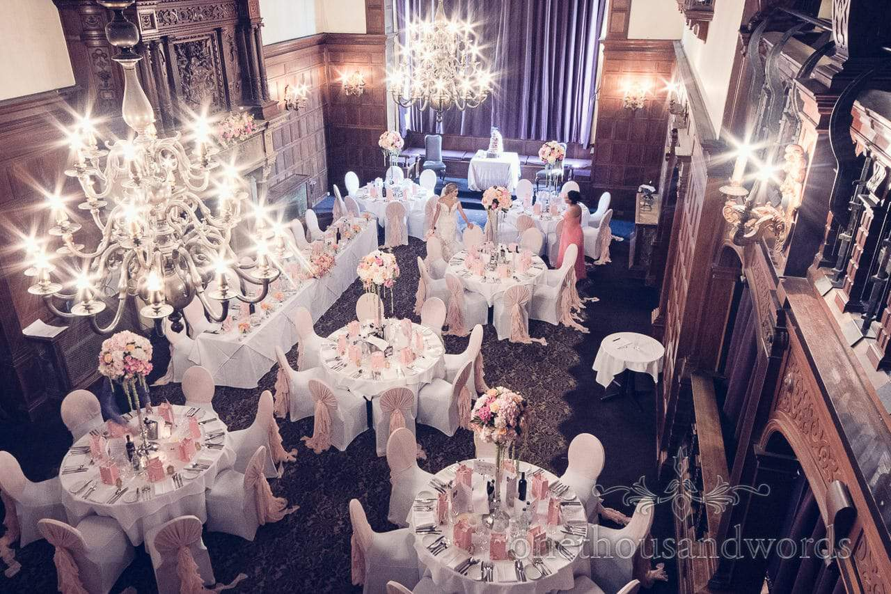 The grand hall at Rhinefield House Wedding