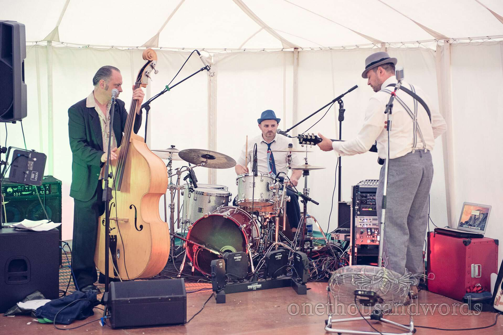 The Juebox Jets wedding Band at marquee wedding