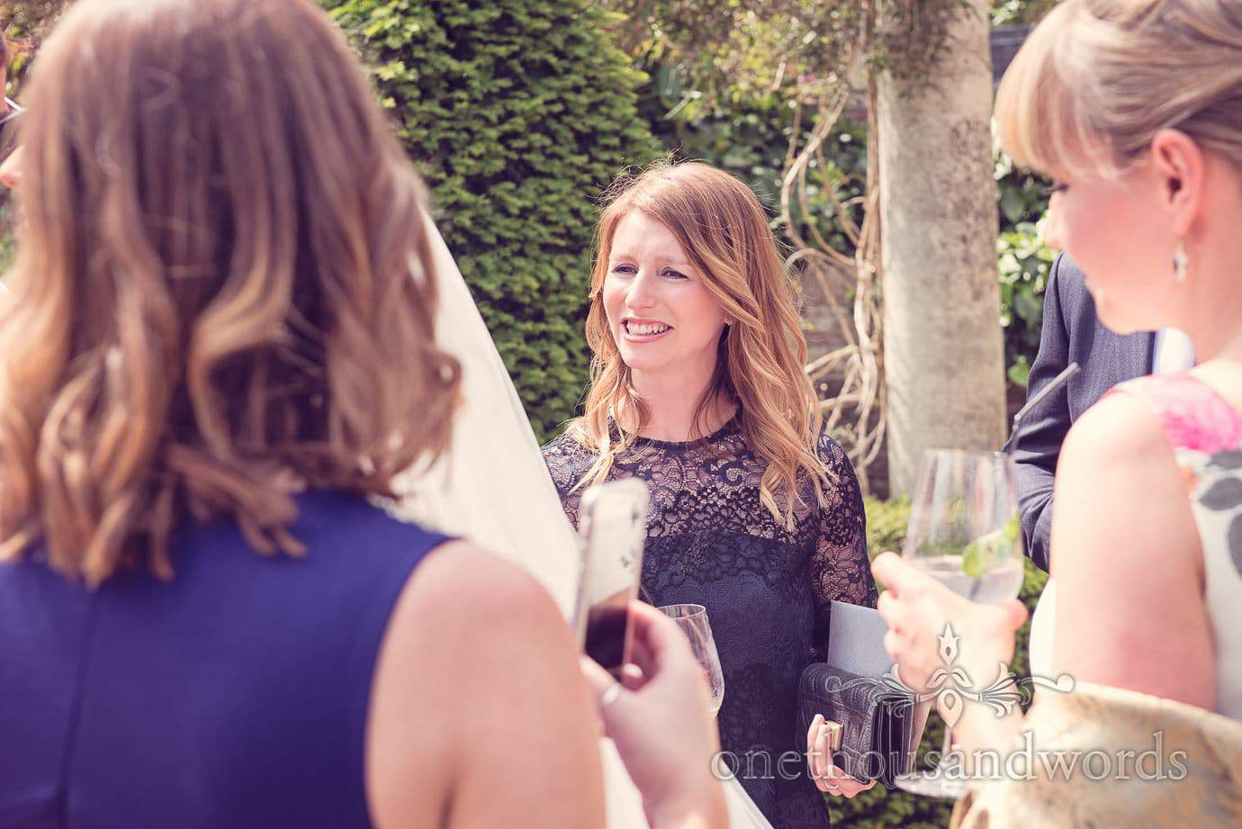 Wedding guest at Italian Villa Wedding Photographs