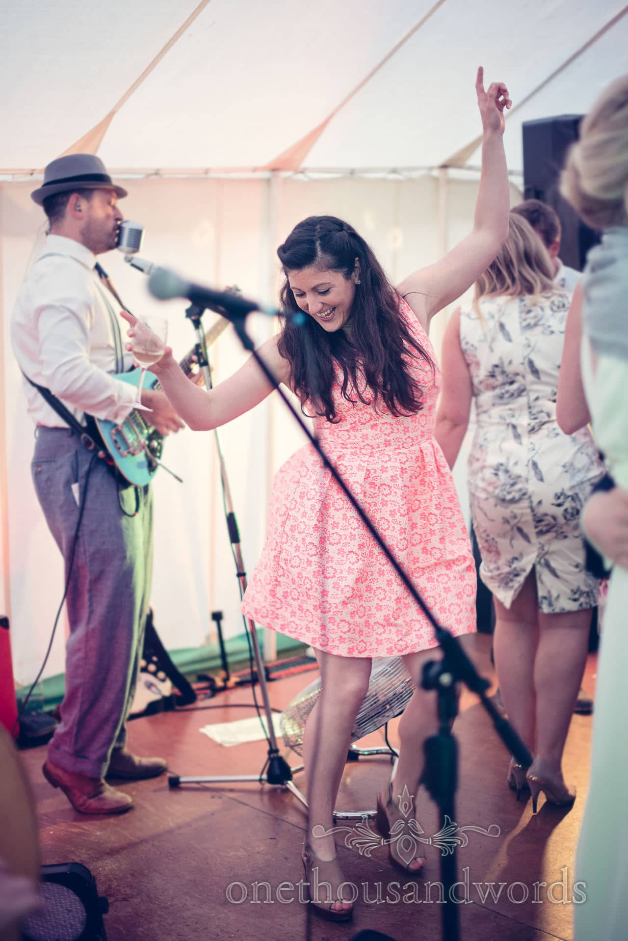 Wedding guest dances to The Jukebox Jets wedding band