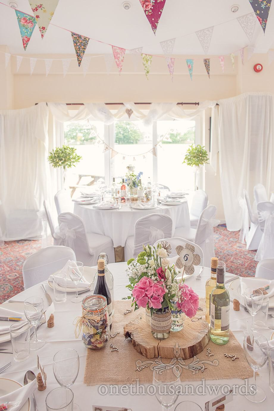 Perfectly Pretty Weddings decorates Wareham Rugby Club with bunting