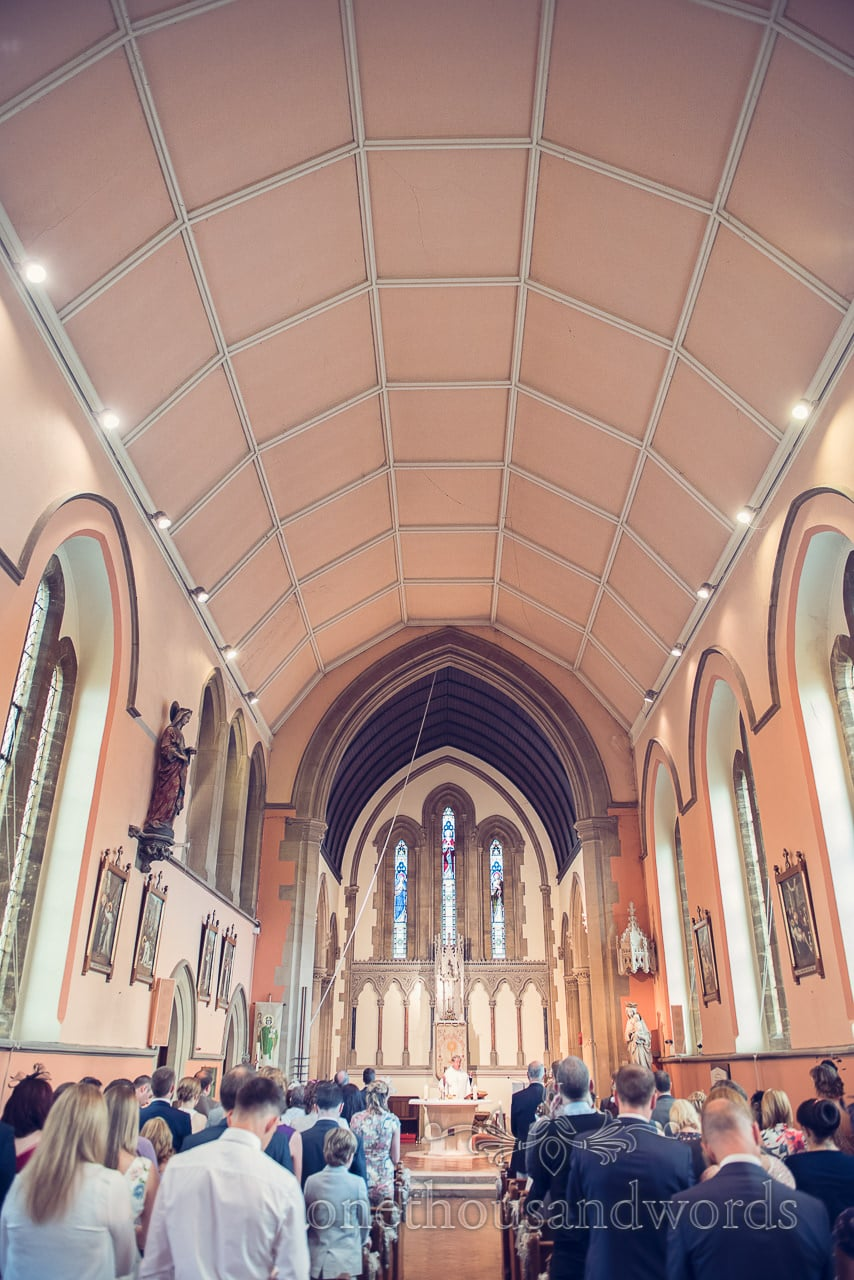 Sacred Heart Catholic Church in Sherborne, Dorset wedding ceremony