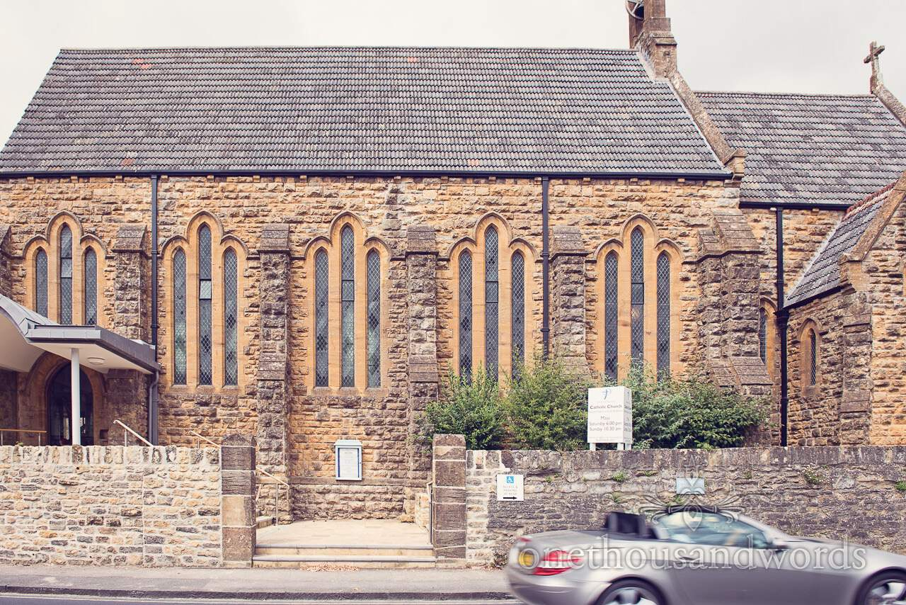 Sacred Heart Catholic stone Church wedding venue in Sherborne