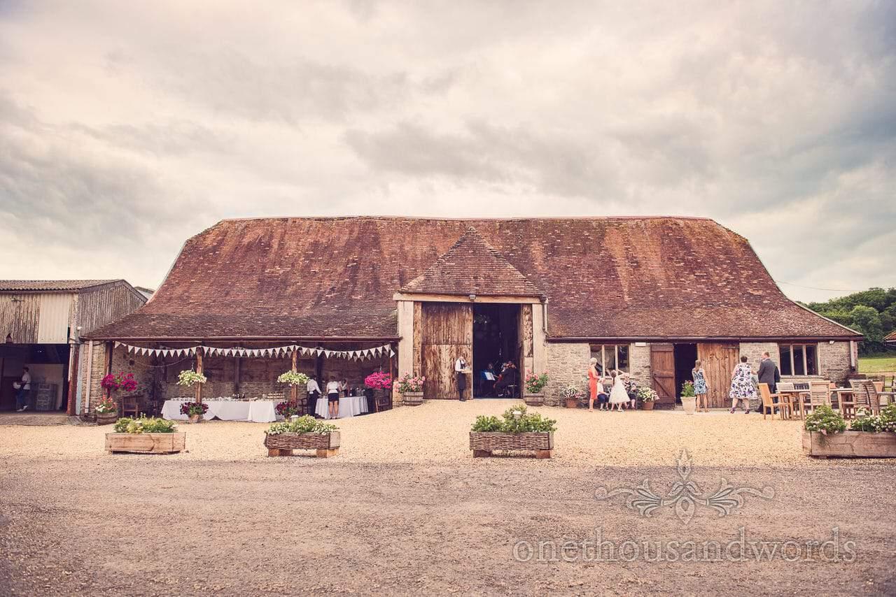 Stockbridge Farm Barn wedding venue near Sherborne in Dorset