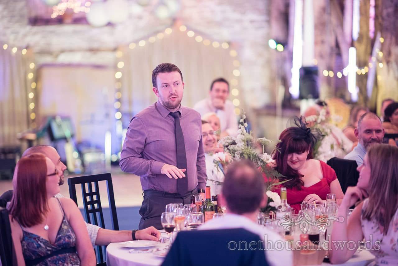 Wedding speeches at Stockbridge Farm Barn wedding venue in Dorset