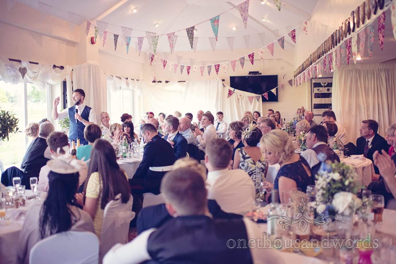 Wedding speeches at Wareham Rugby Club in Dorset