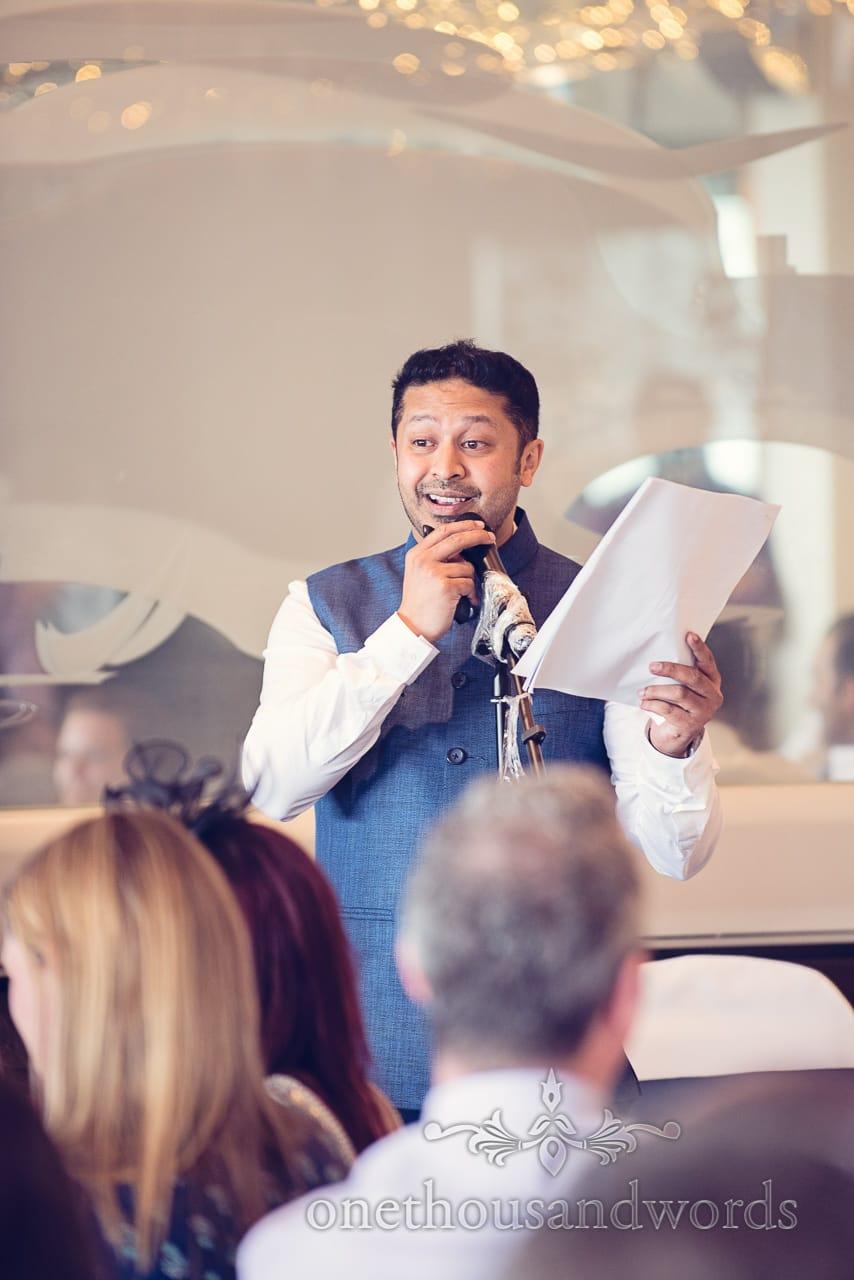 Best man's speech at Harbour Heights Hotel Wedding