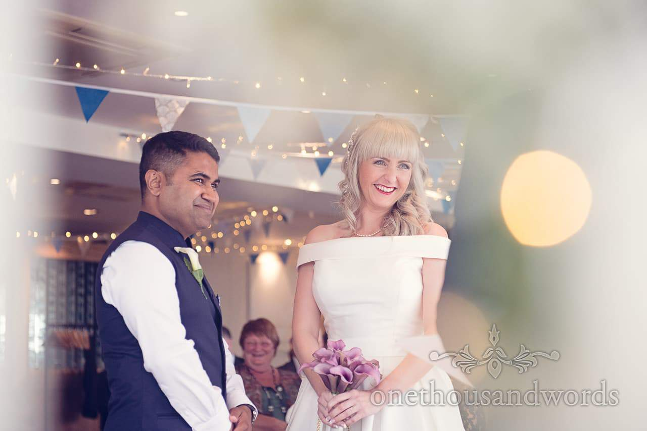Bride and groom at Harbour Heights Hotel Wedding ceremony