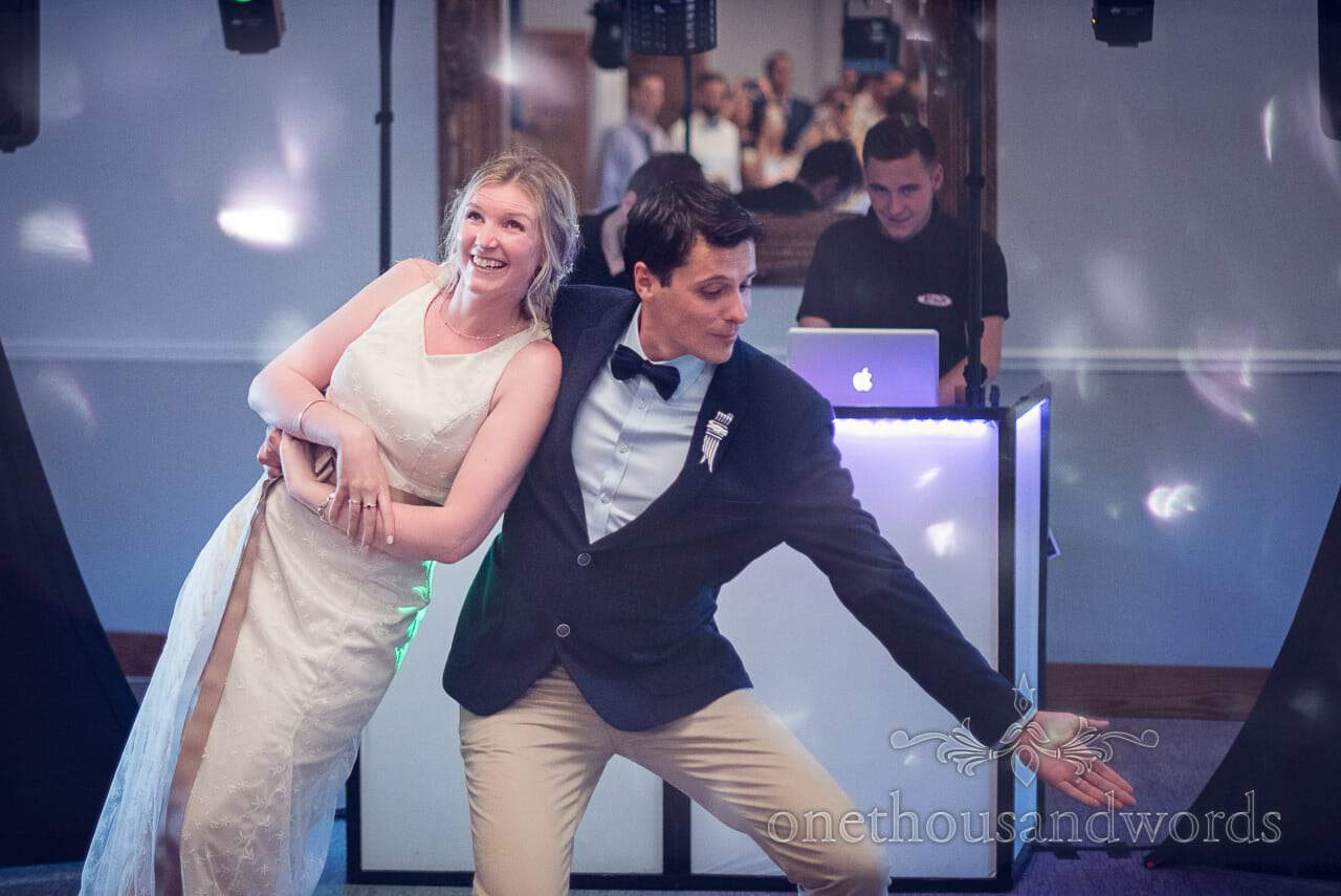 Bride and grooms first dance routine at Balmer Lawn Hotel Wedding