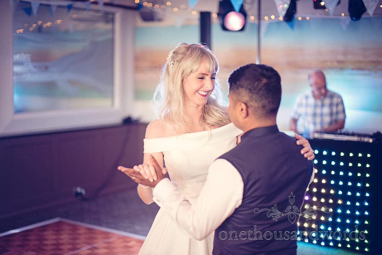 First Dance at Harbour Heights Hotel Wedding venue in Poole
