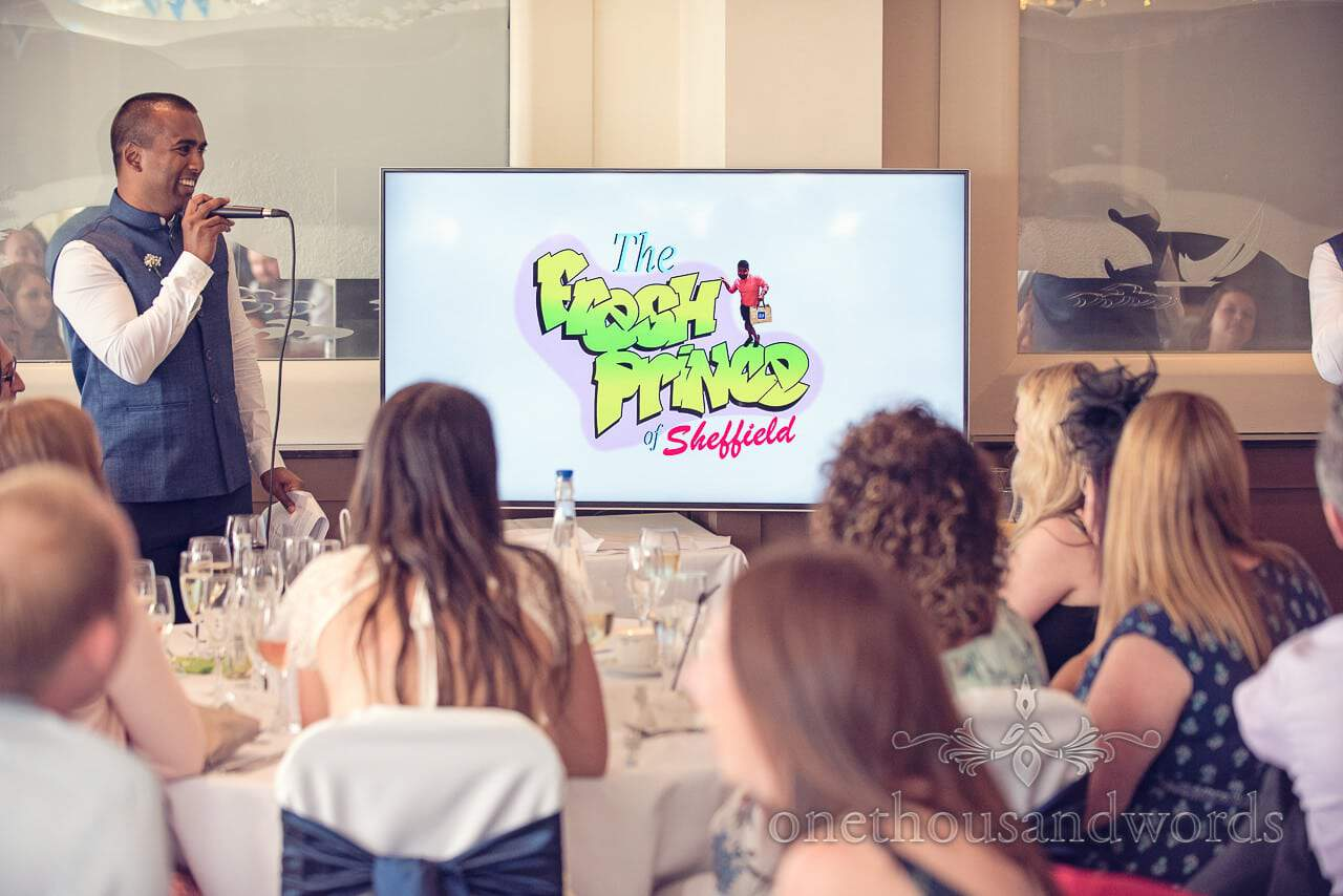 Fresh prince image at Harbour Heights Hotel Wedding speeches