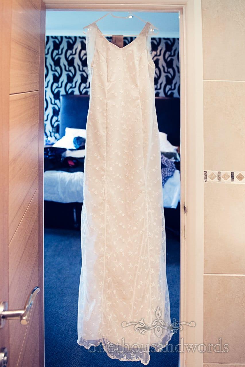 Hand Made Wedding Dress at Balmer Lawn Hotel Wedding
