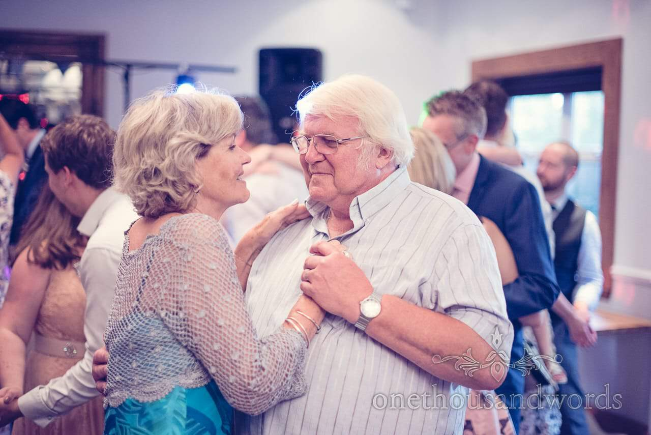 Mother and father of the bride dancing at Balmer Lawn Hotel Wedding