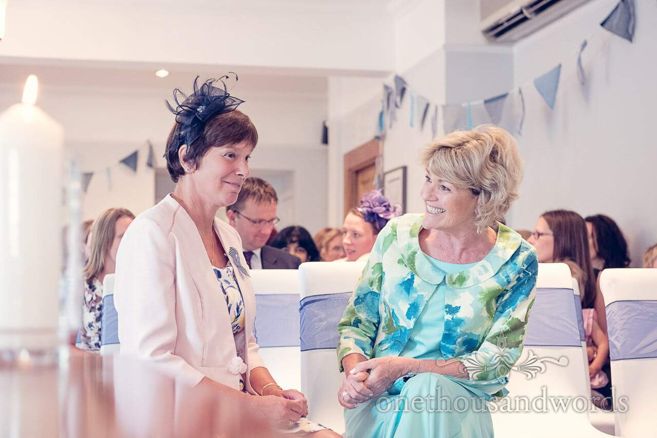 Mother of bride and mother of groom photograph at Balmer Lawn Hotel Wedding