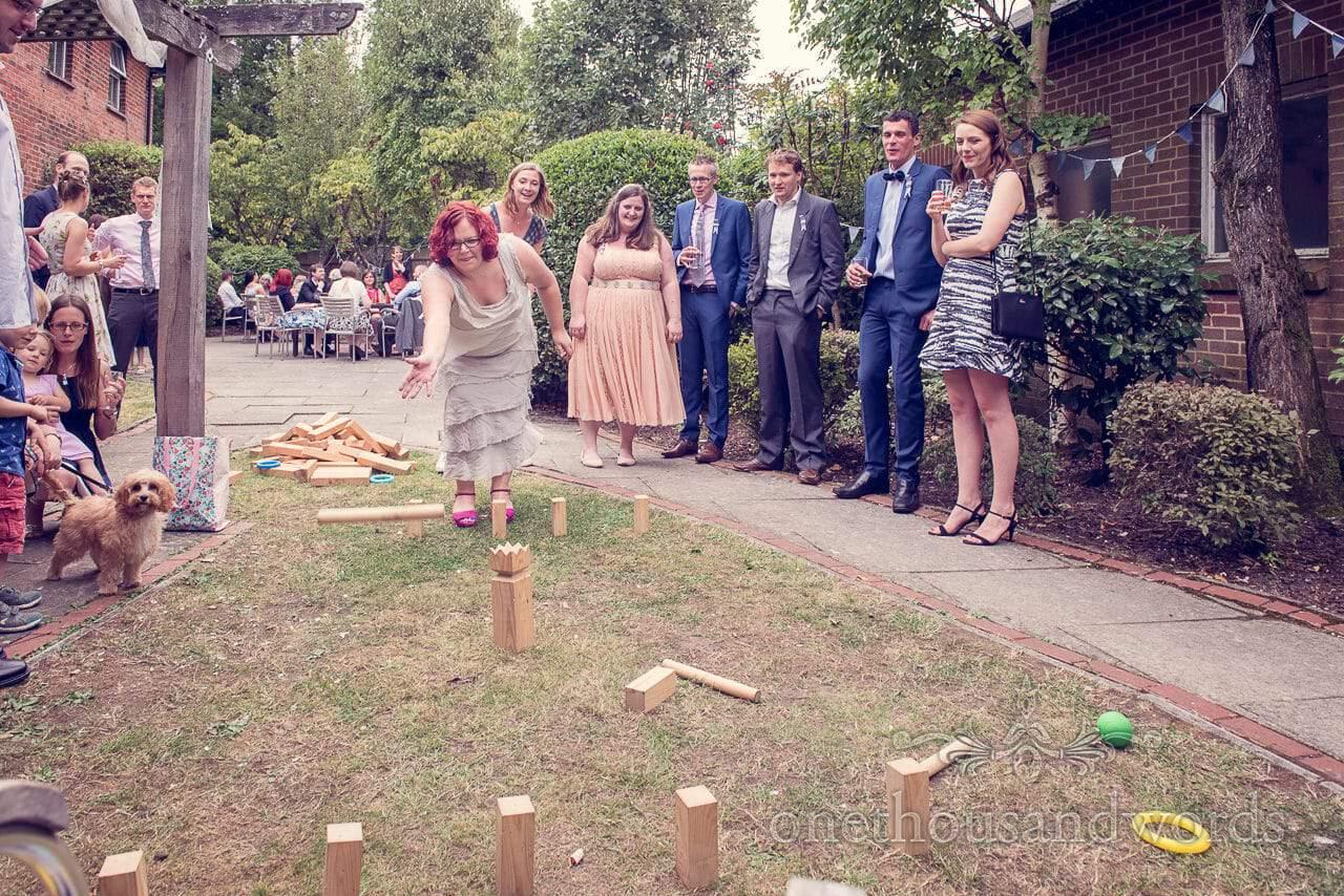 Swedish lawn games at Balmer Lawn Hotel Wedding reception