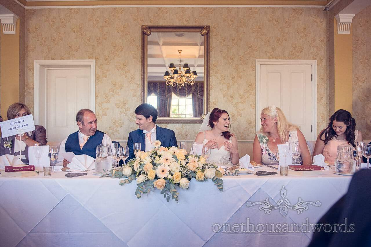 Top table from Bournemouth Hotel Wedding