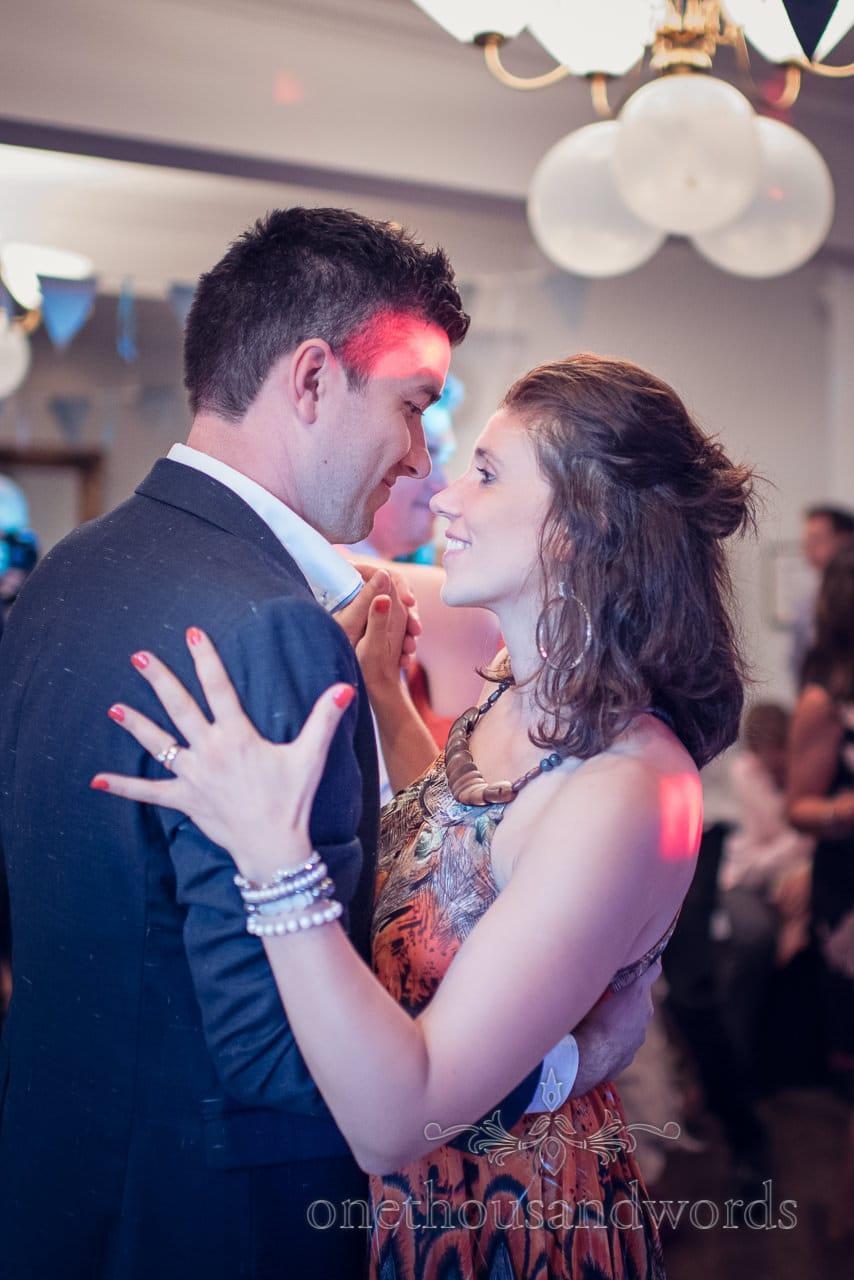Wedding guests dancing at Balmer Lawn Hotel Wedding Disco